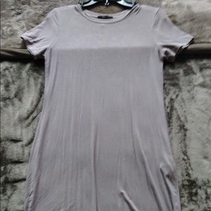 Gray/Mauve T-Shirt Dress